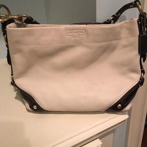 Coach white/brown handbag